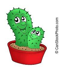 paar, cactussen