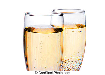 paar, champagne bril