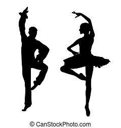 paar, dansers, ballet