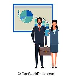 paar, daten, tabelle, geschaeftswelt, infographics