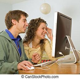 paar, edv, teenager