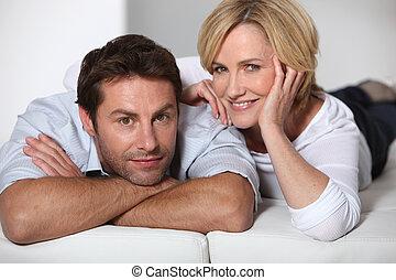paar, entspannend