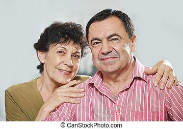 paar, erwachsener, glücklich
