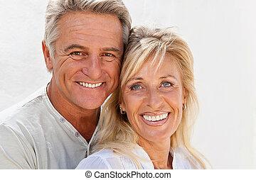 paar, fällig, glücklich