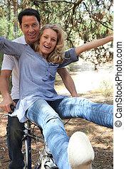 paar, fiets