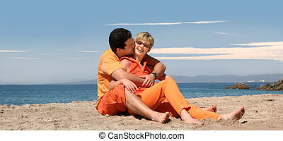 paar, glücklich