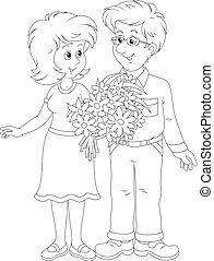 paar, hartelijk