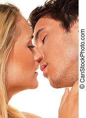 paar, heeft, plezier, en, joy., liefde, erotiek, en,...