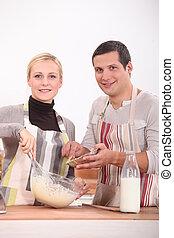 paar, het koken