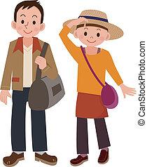 paar, het reizen