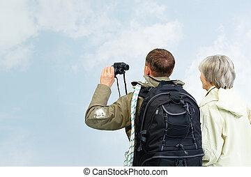 paar, hikers