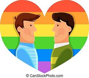 paar, homosexueel