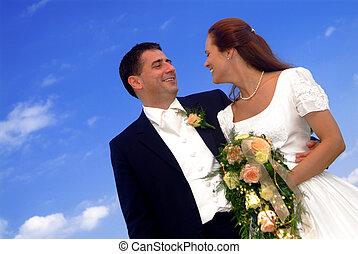 paar, huwelijk