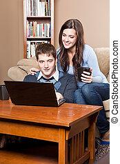 paar, laptop