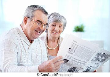 paar, lezende
