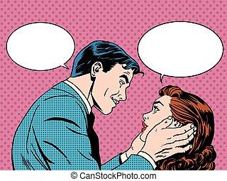 paar, liebe, dialog