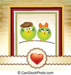 paar, lieben vögel