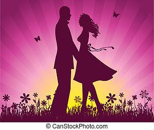 paar, liefde