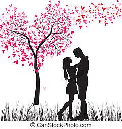 paar, liefde, jonge