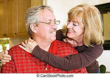 paar, liefde, middelbare leeftijd