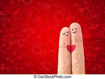 paar, liefde, vrolijke