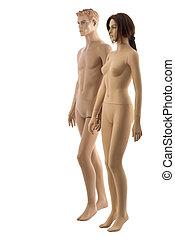 paar, |, mannequins, freigestellt