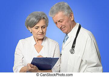 paar, middelbare leeftijd , artsen