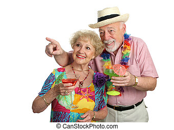 paar, middelbare leeftijd , sightseeing