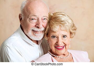 paar, mooi, senior