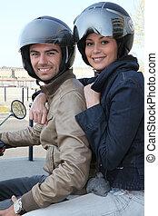 paar, motorfiets