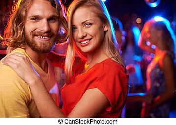 paar, nachtclub