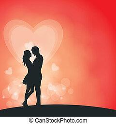 paar, romantische