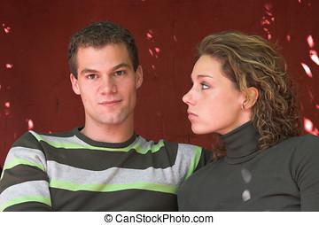 paar, romantische, jonge