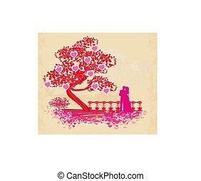 paar, romantische, kaart