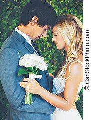 paar, romantische, trouwfeest