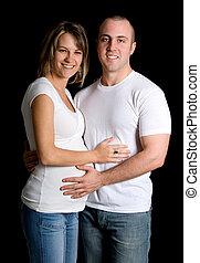 paar, schwanger