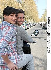 paar, scooter