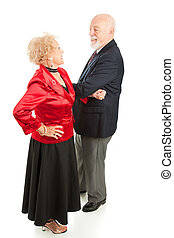 paar, senior, dansen