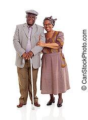 paar, senioren, afrikanisch