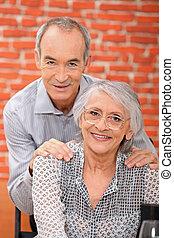 paar, senioren