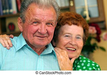 paar, senioren, glücklich