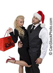 paar, shoppen , cristmas
