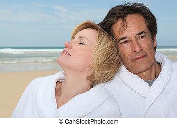 paar, strand