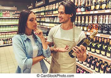 Paar, Supermarkt