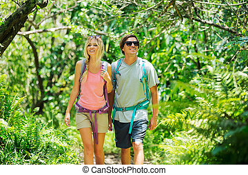 paar te wandelen