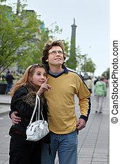 paar, toerist