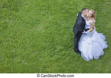 paar, trouwfeest