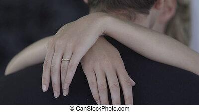 Paar, umarmen, Jungvermählt,  chatt