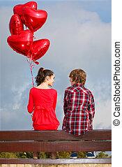 paar, valentinestag