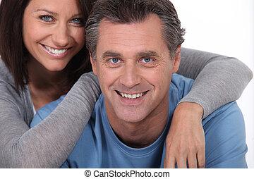 paar, van middelbare leeftijd